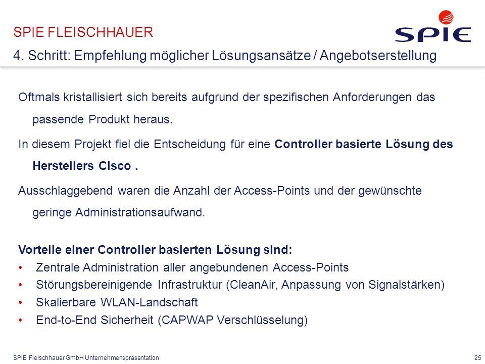 SPIE Fleischhauer GmbH Unternehmenspräsentation 25 Oftmals kristallisiert sich bereits aufgrund der spezifischen Anforderungen das passende Produkt heraus.