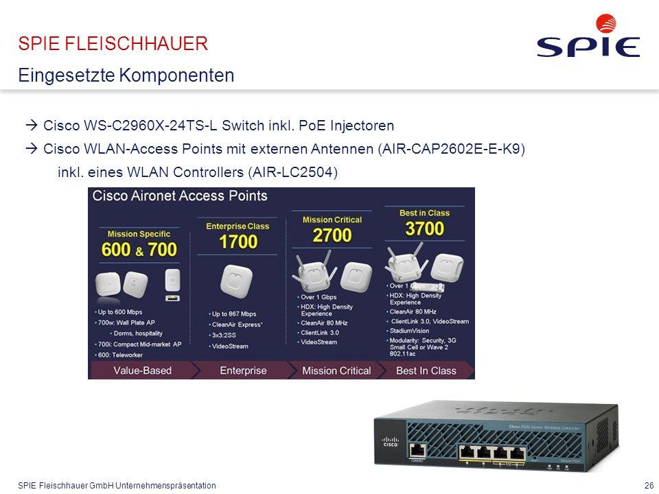 SPIE Fleischhauer GmbH Unternehmenspräsentation 26  Cisco WS-C2960X-24TS-L Switch inkl.