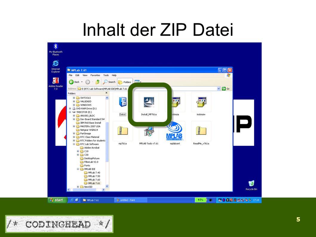 5 Inhalt der ZIP Datei