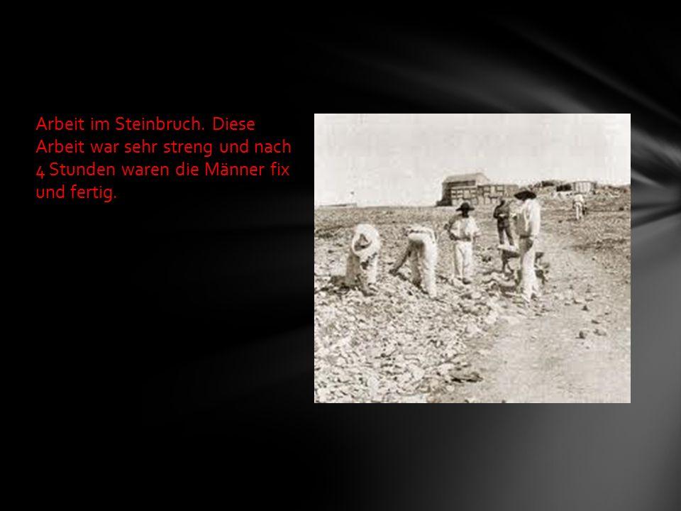Arbeit im Steinbruch.