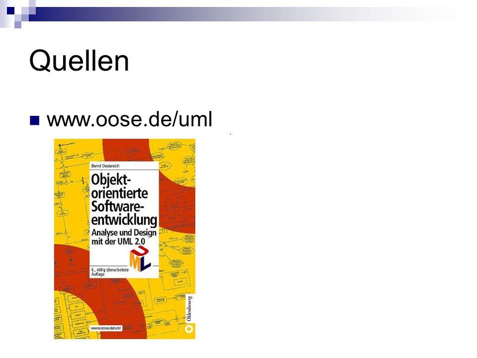 Quellen www.oose.de/uml