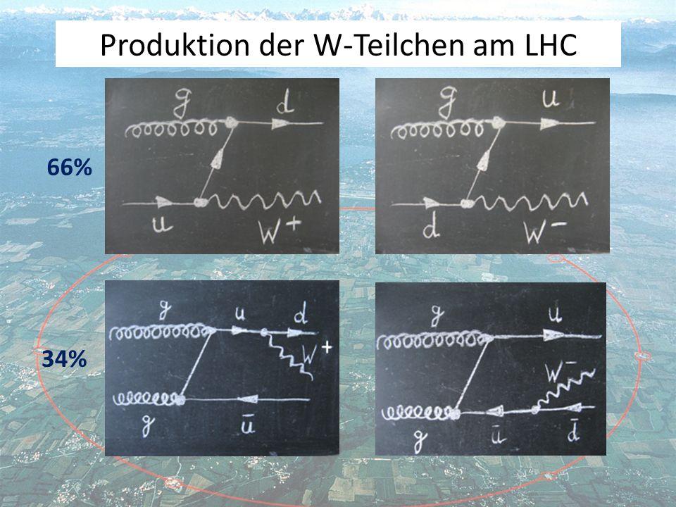 Was können wir lernen, wenn wir die Produktionsrate der W + und der W - messen.