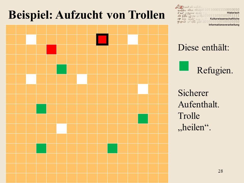 """Beispiel: Aufzucht von Trollen Diese enthält: Refugien. Sicherer Aufenthalt. Trolle """"heilen . 28"""