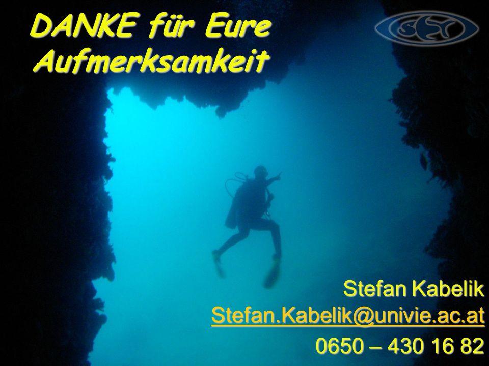 DANKE für Eure Aufmerksamkeit Stefan Kabelik Stefan.Kabelik@univie.ac.at Stefan.Kabelik@univie.ac.at 0650 – 430 16 82