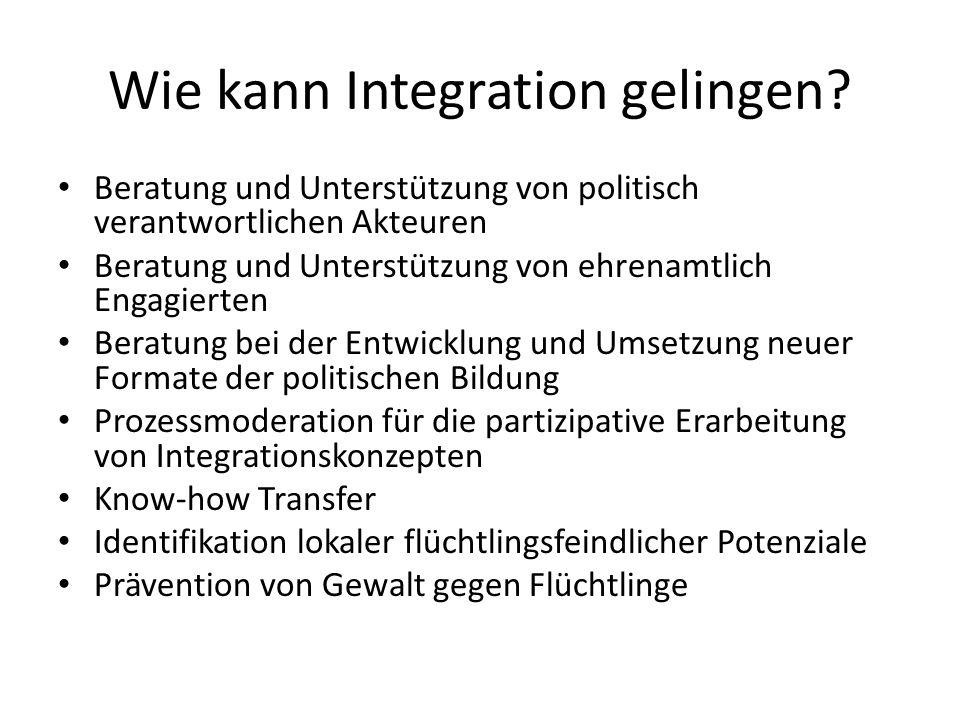 Wie kann Integration gelingen.