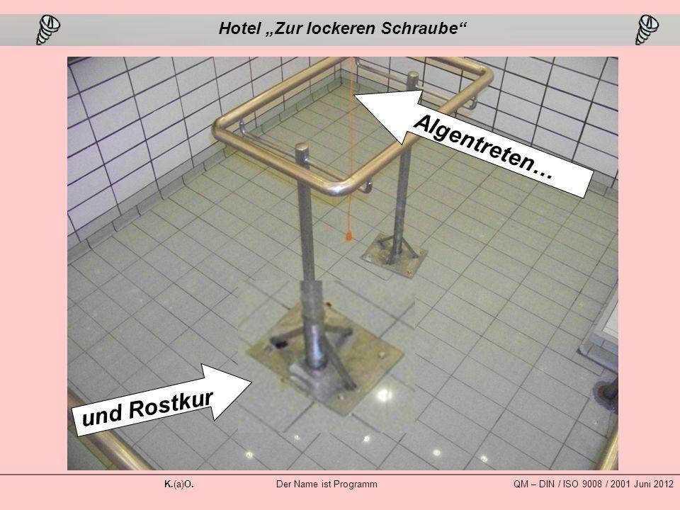 """Algentreten… und Rostkur Hotel """"Zur lockeren Schraube K.O."""