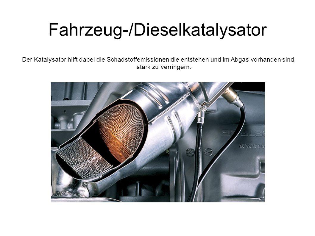 Fahrzeug-/Dieselkatalysator Der Katalysator hilft dabei die Schadstoffemissionen die entstehen und im Abgas vorhanden sind, stark zu verringern.