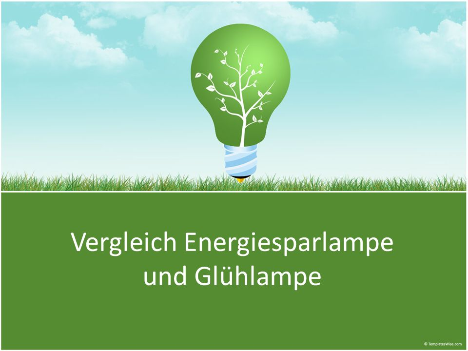 Glühlampe Herstellung: 0,2 kWh * 0,6 kg CO 2 / kWh = 0,12 kg CO 2 Lebensdauer (1.000 h): 75 kWh * 0,6 kg CO 2 / kWh = 45 kg CO 2