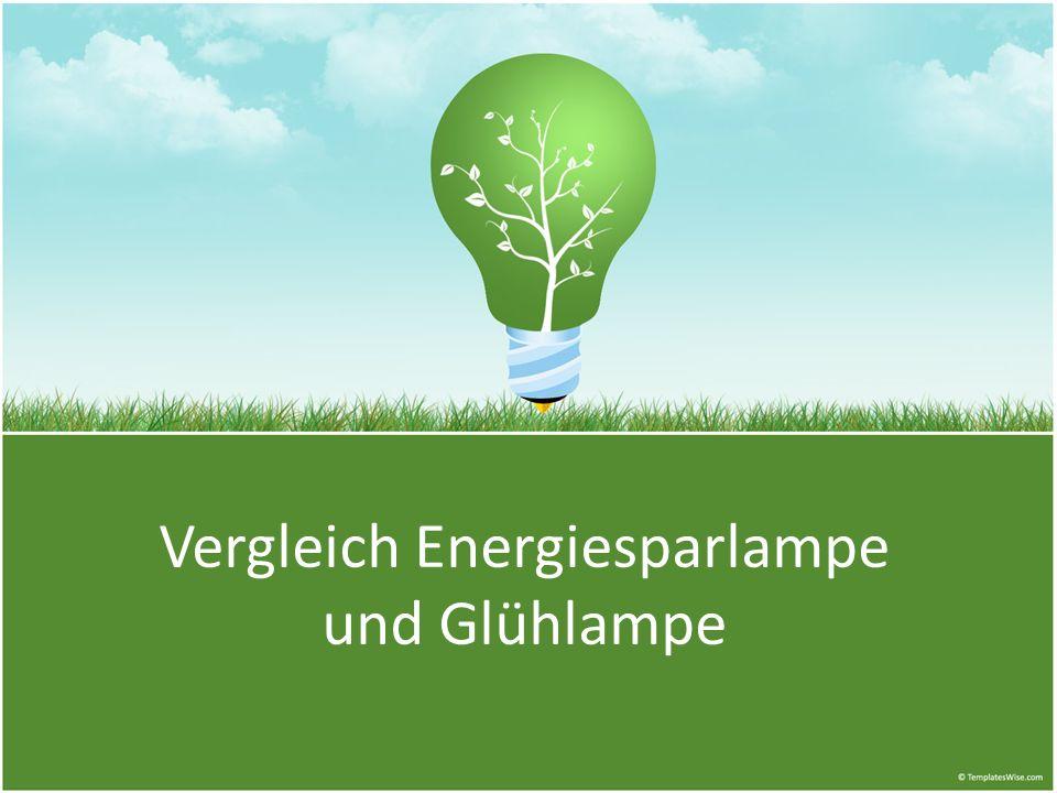 Vergleich Energiesparlampe und Glühlampe