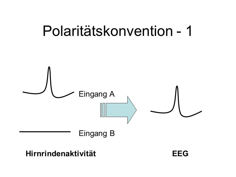 Polaritätskonvention - 1 Eingang A Eingang B HirnrindenaktivitätEEG