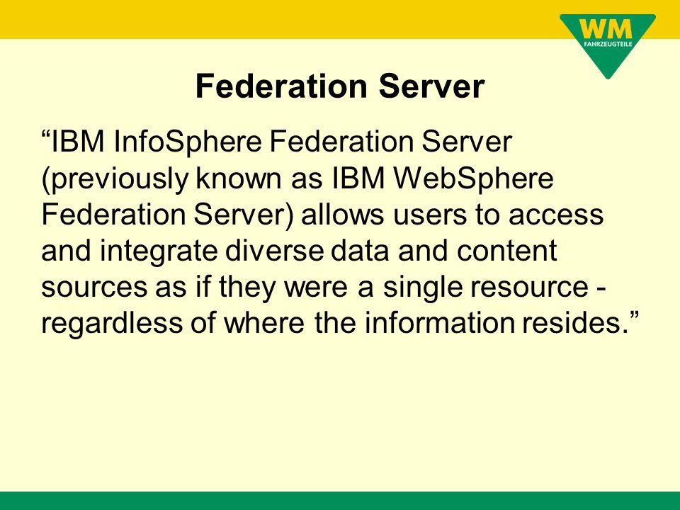 Federation Server ????? Kein Blech Kein Kabel Download Install in eine bestehende DB Fertig Testen Bezahlen !!!!!!!!!!!!!!!!!!!!!!!!!!