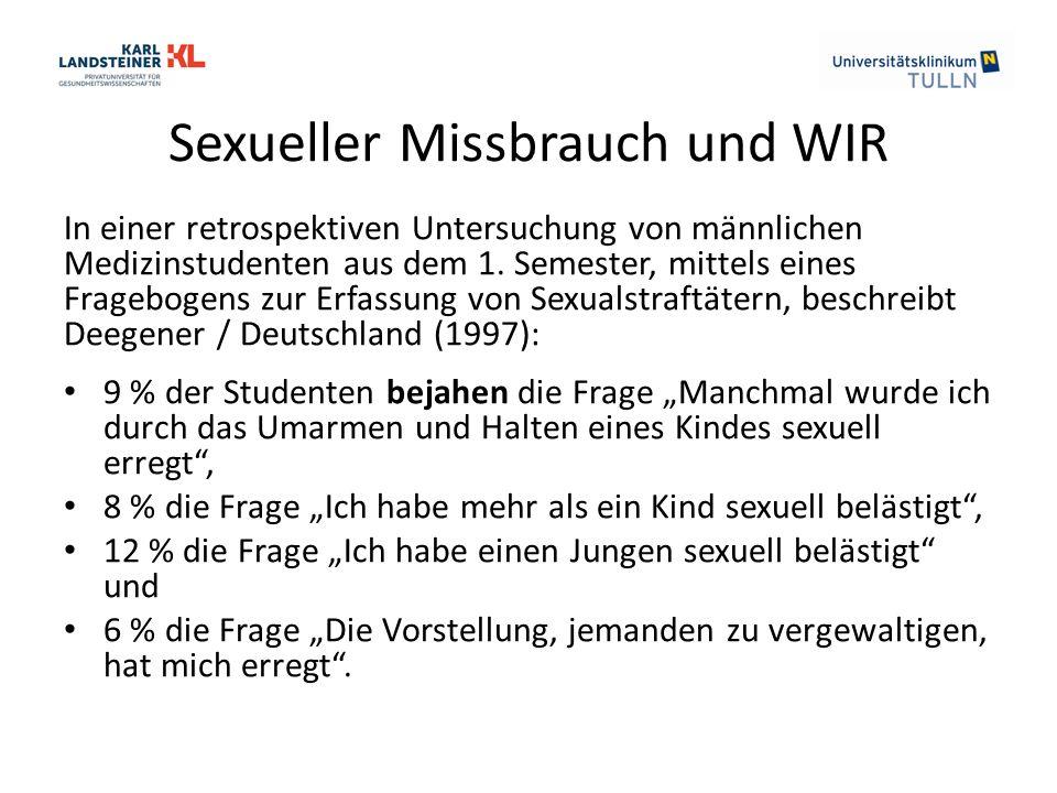 Sexueller Missbrauch und WIR In einer retrospektiven Untersuchung von männlichen Medizinstudenten aus dem 1.