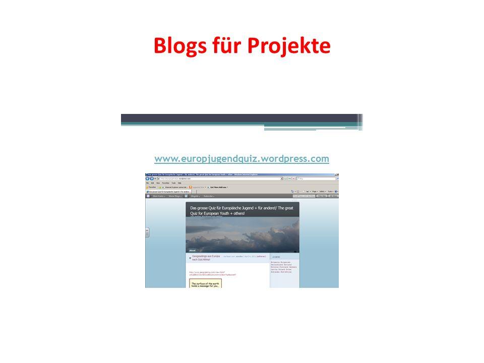 Blogs für Projekte