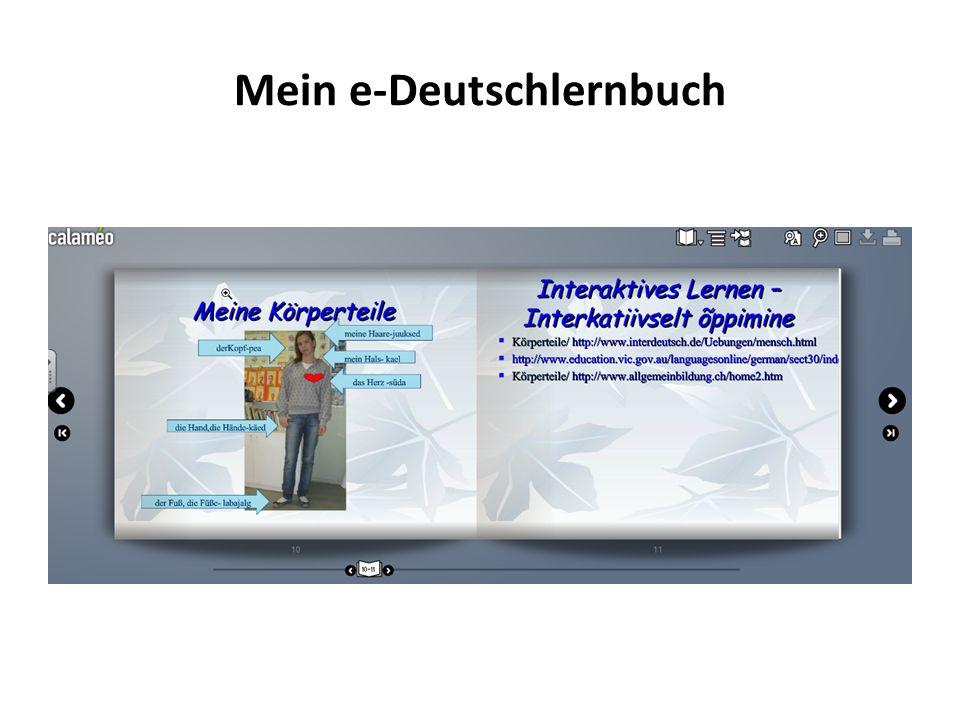 Mein e-Deutschlernbuch