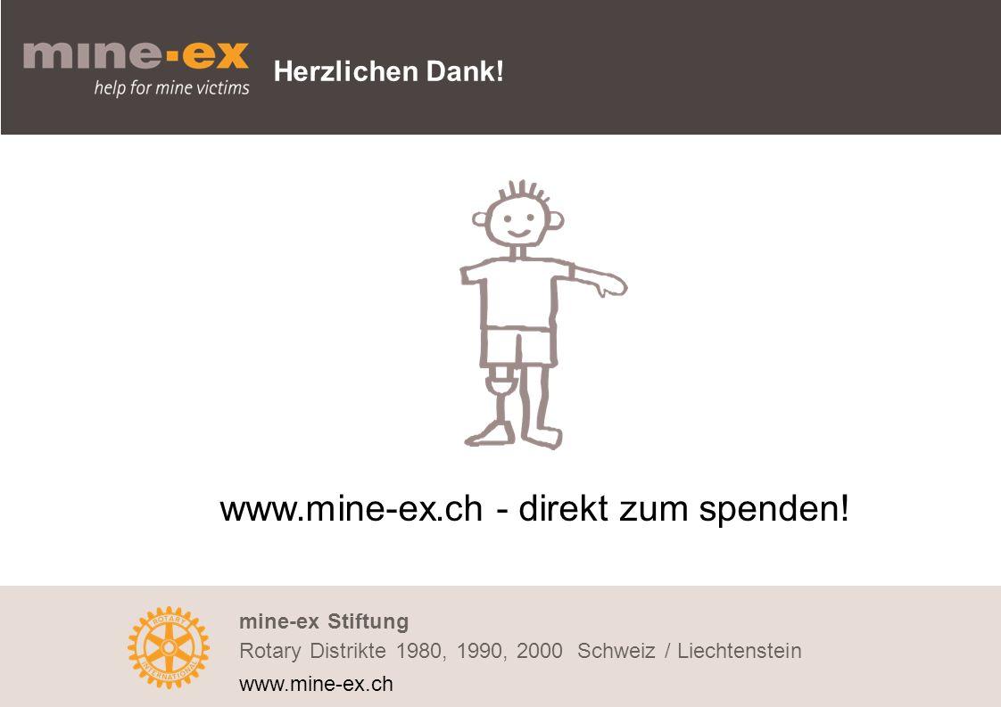 Herzlichen Dank. www.mine-ex.ch - direkt zum spenden.