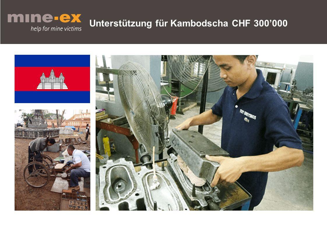 Unterstützung für Kambodscha CHF 300'000