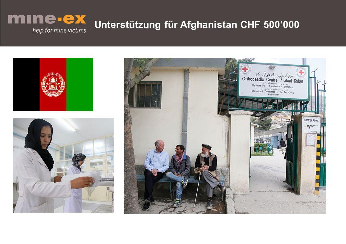 Unterstützung für Afghanistan CHF 500'000