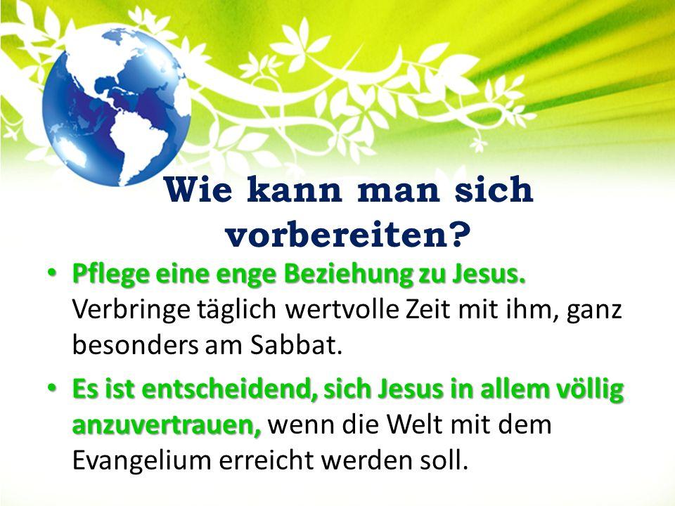 Ohne die Leitung des Heiligen Geistes werden wir niemals in der Seelengewinnung erfolgreich sein.