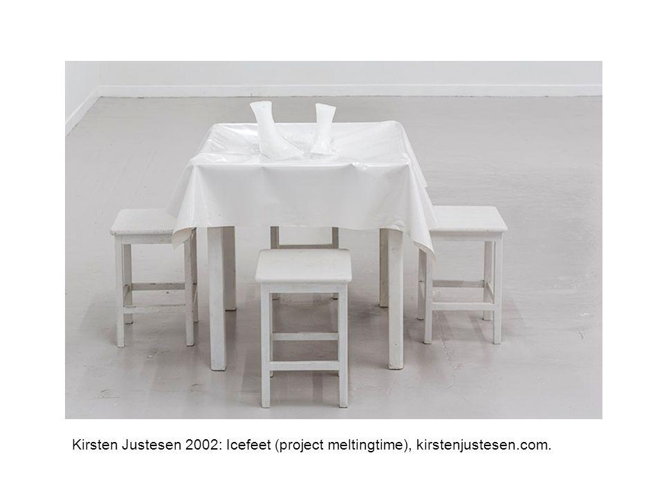 Kirsten Justesen 2002: Icefeet (project meltingtime), kirstenjustesen.com.
