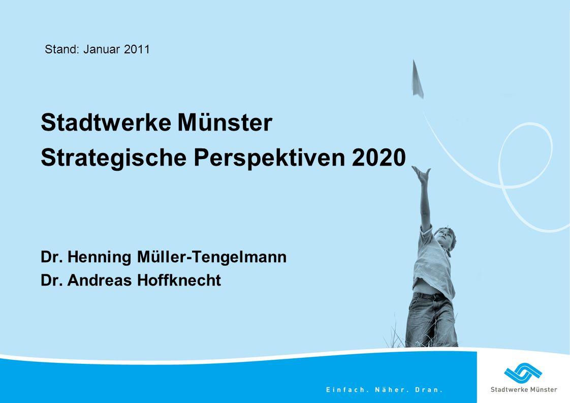 Stadtwerke Münster Strategische Perspektiven 2020 Dr.