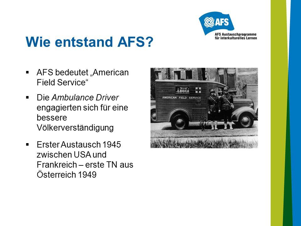 Wie entstand AFS.