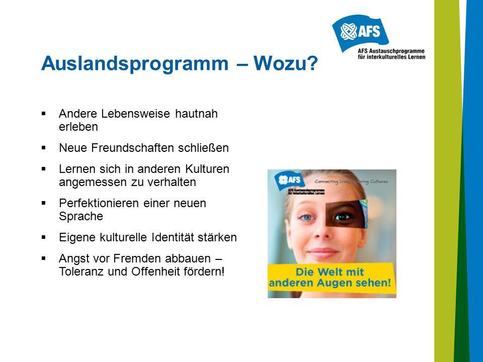 Auslandsprogramm – Wozu.
