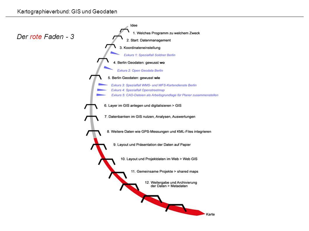 Der rote Faden - 3 Kartographieverbund: GIS und Geodaten