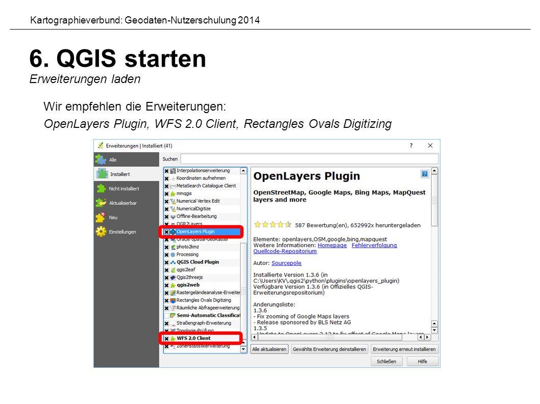 Kartographieverbund: Geodaten-Nutzerschulung 2014 6.
