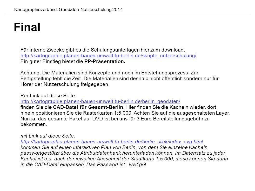 Für interne Zwecke gibt es die Schulungsunterlagen hier zum download: http://kartographie.planen-bauen-umwelt.tu-berlin.de/skripte_nutzerschulung/ Ein guter Einstieg bietet die PP-Präsentation.