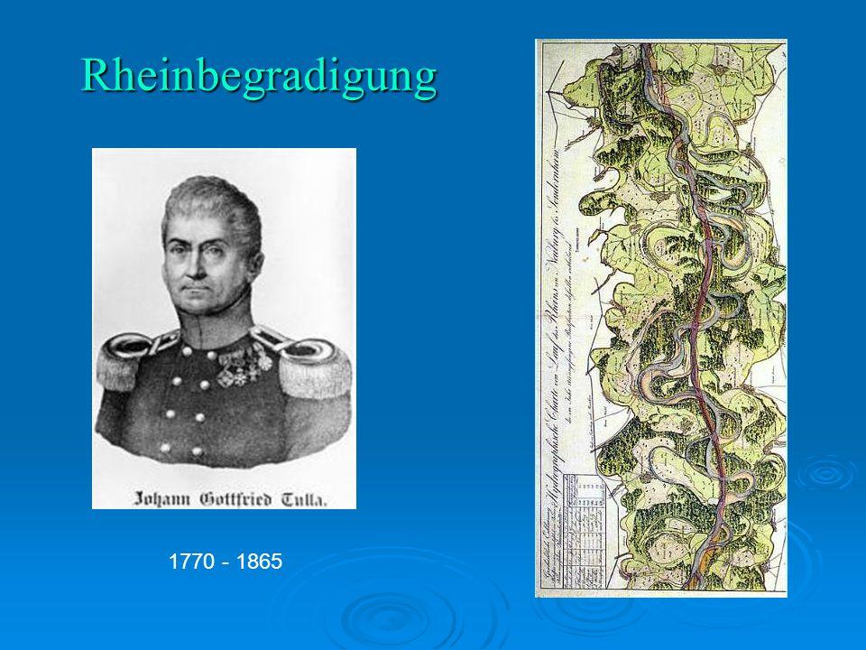 Rheinbegradigung 1770 - 1865