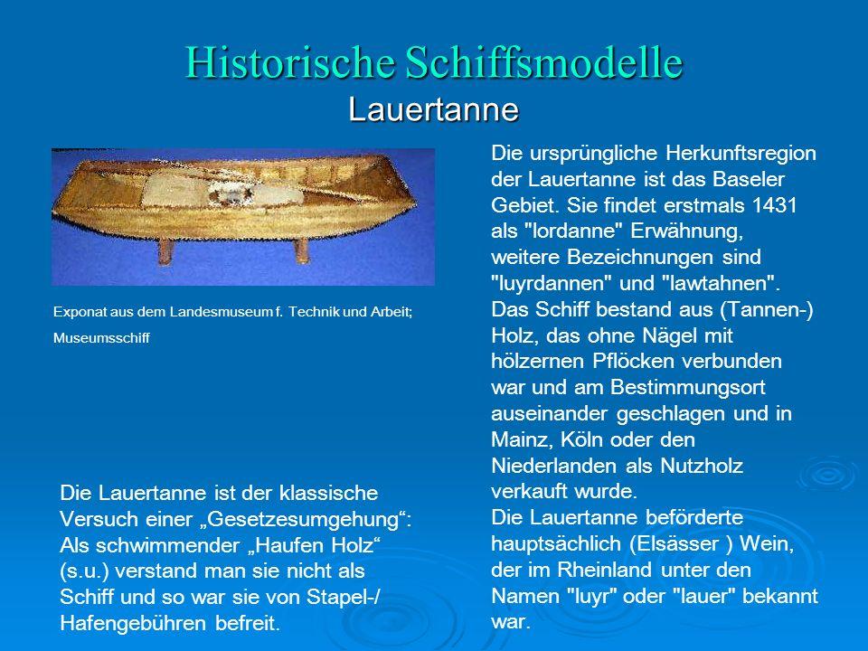 Historische Schiffsmodelle Lauertanne Exponat aus dem Landesmuseum f.