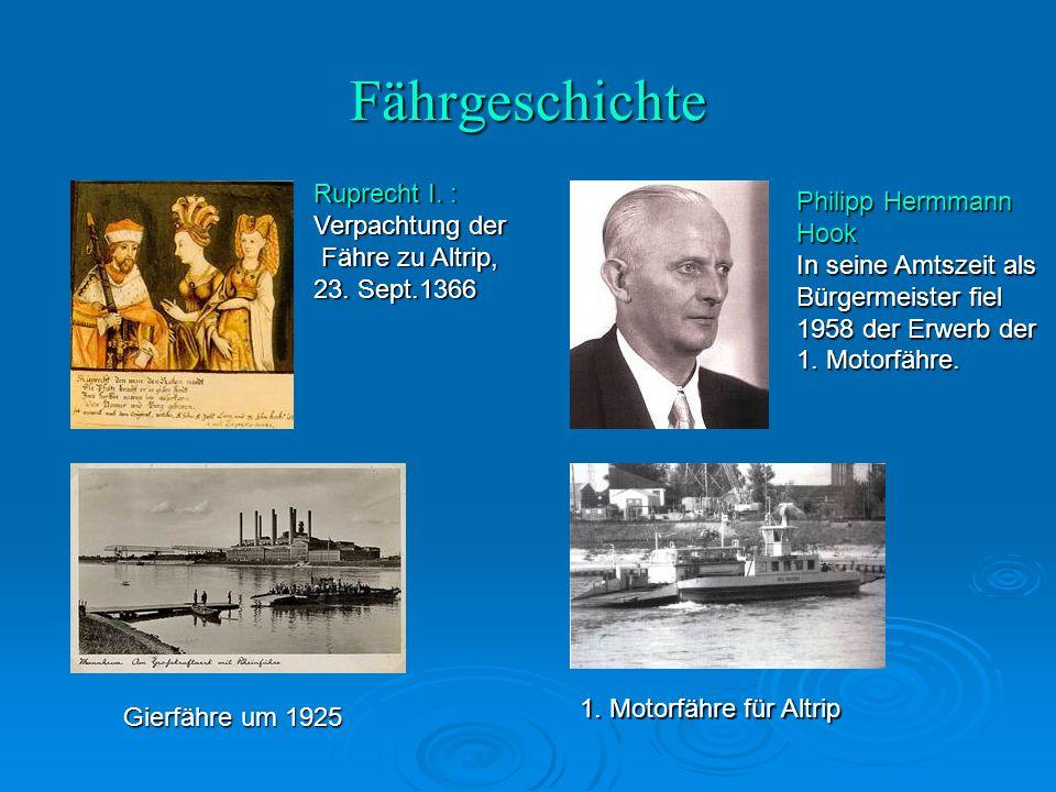 Fährgeschichte Ruprecht I. : Verpachtung der Fähre zu Altrip, 23.