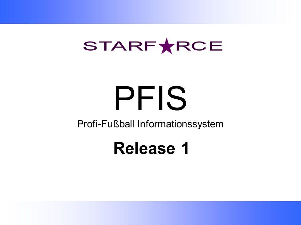 PFIS Profi-Fußball Informationssystem Release 1