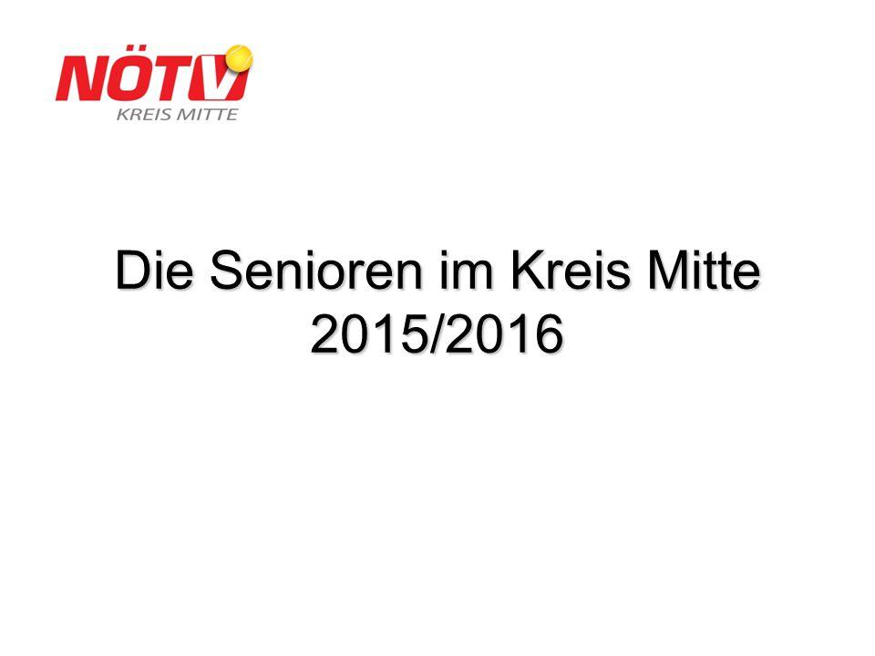 Die Senioren im Kreis Mitte 2015/2016