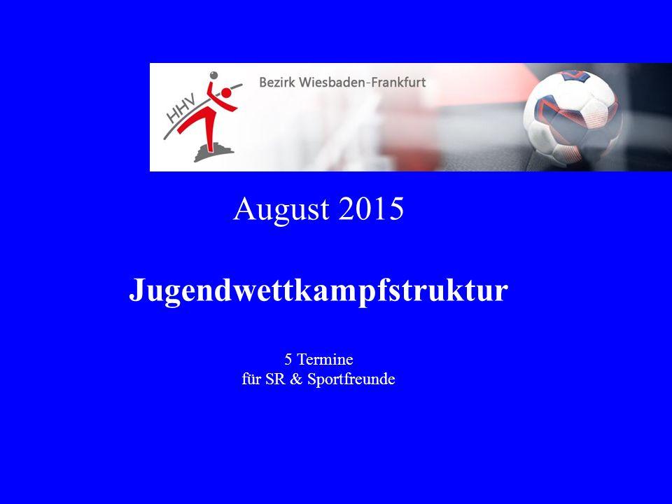 August 2015 Jugendwettkampfstruktur 5 Termine für SR & Sportfreunde