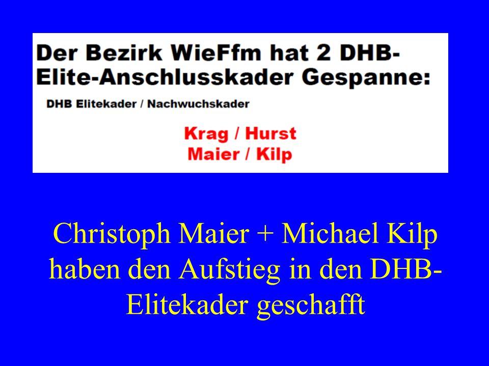 Christoph Maier + Michael Kilp haben den Aufstieg in den DHB- Elitekader geschafft