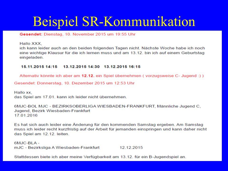 Beispiel SR-Kommunikation