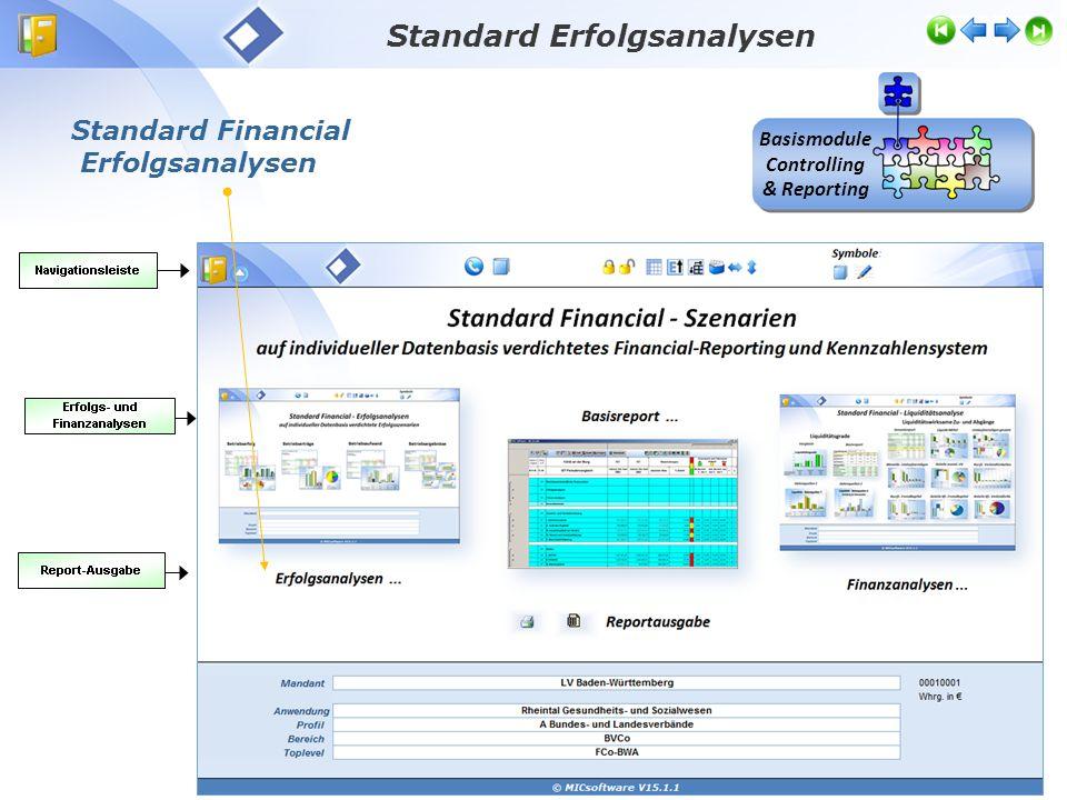 Standard Financial Erfolgsanalysen Standard Erfolgsanalysen Basismodule Controlling & Reporting