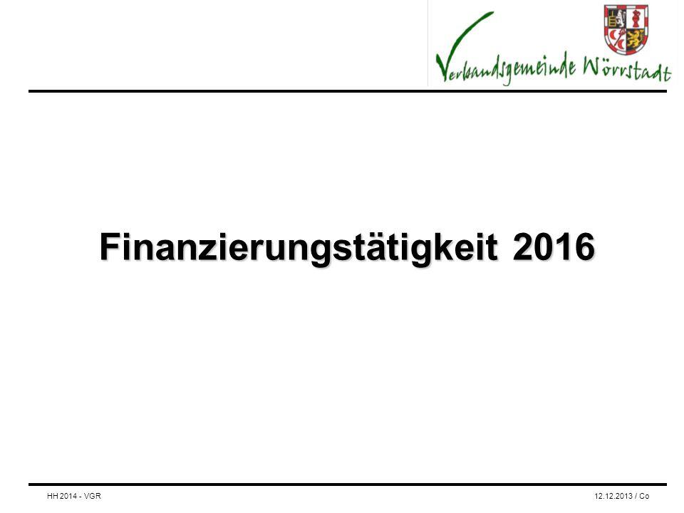 Finanzierungstätigkeit 2016 HH 2014 - VGR12.12.2013 / Co
