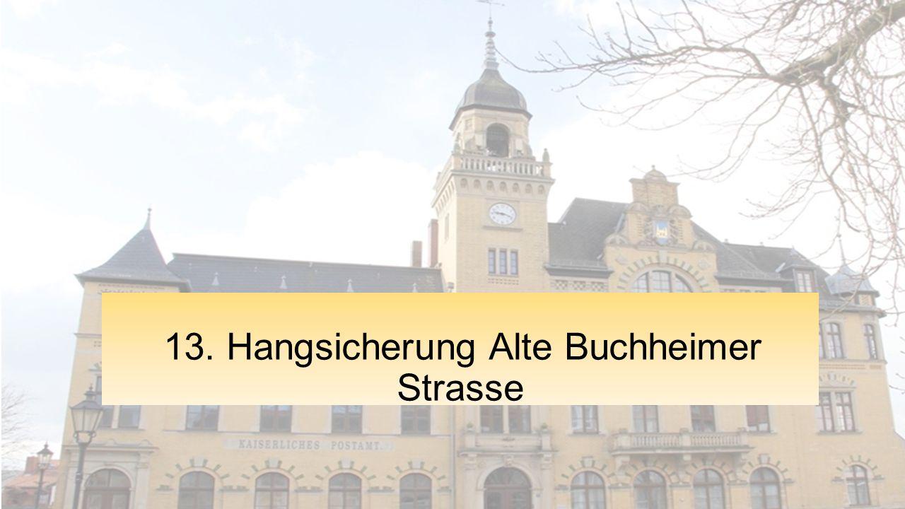 13. Hangsicherung Alte Buchheimer Strasse