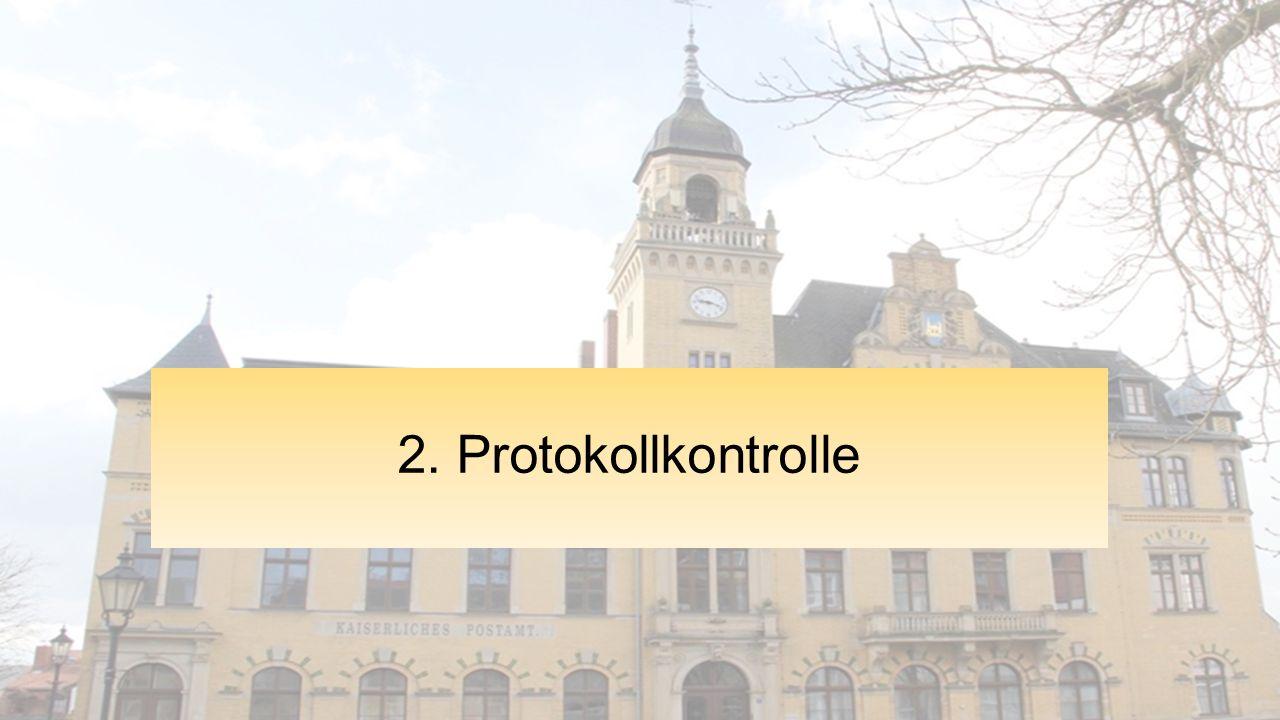 2. Protokollkontrolle