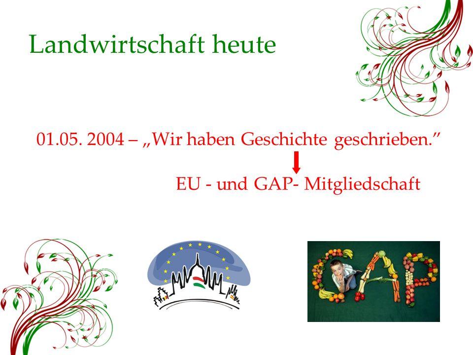 """Landwirtschaft heute 01.05. 2004 – """"Wir haben Geschichte geschrieben. EU - und GAP- Mitgliedschaft"""