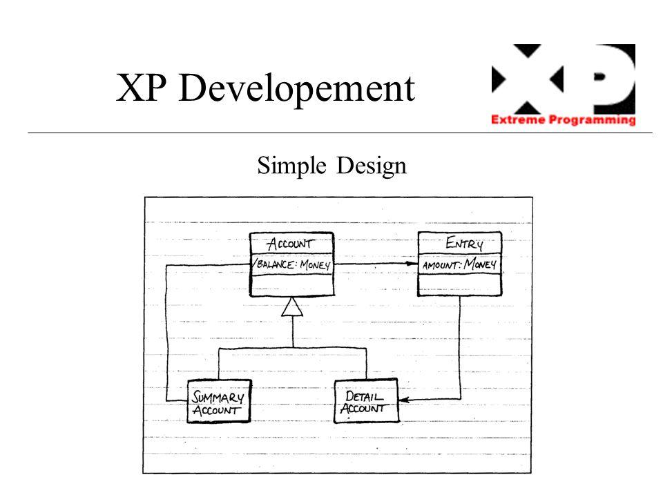 XP Developement Simple Design