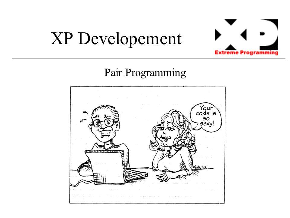 XP Developement Pair Programming