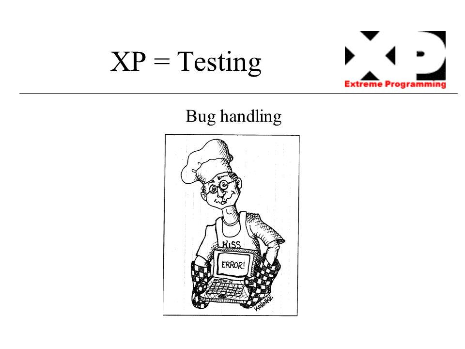XP = Testing Bug handling