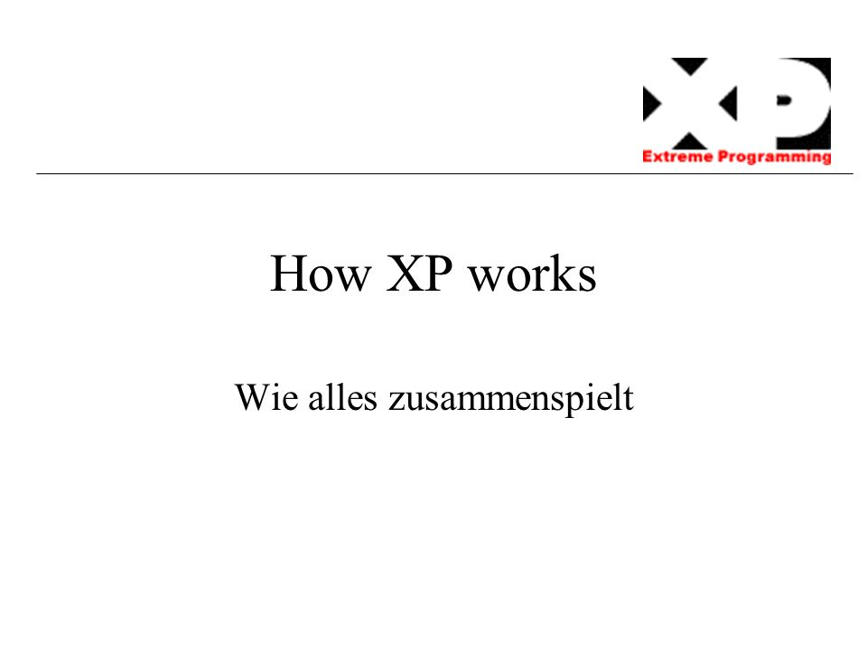 How XP works Wie alles zusammenspielt