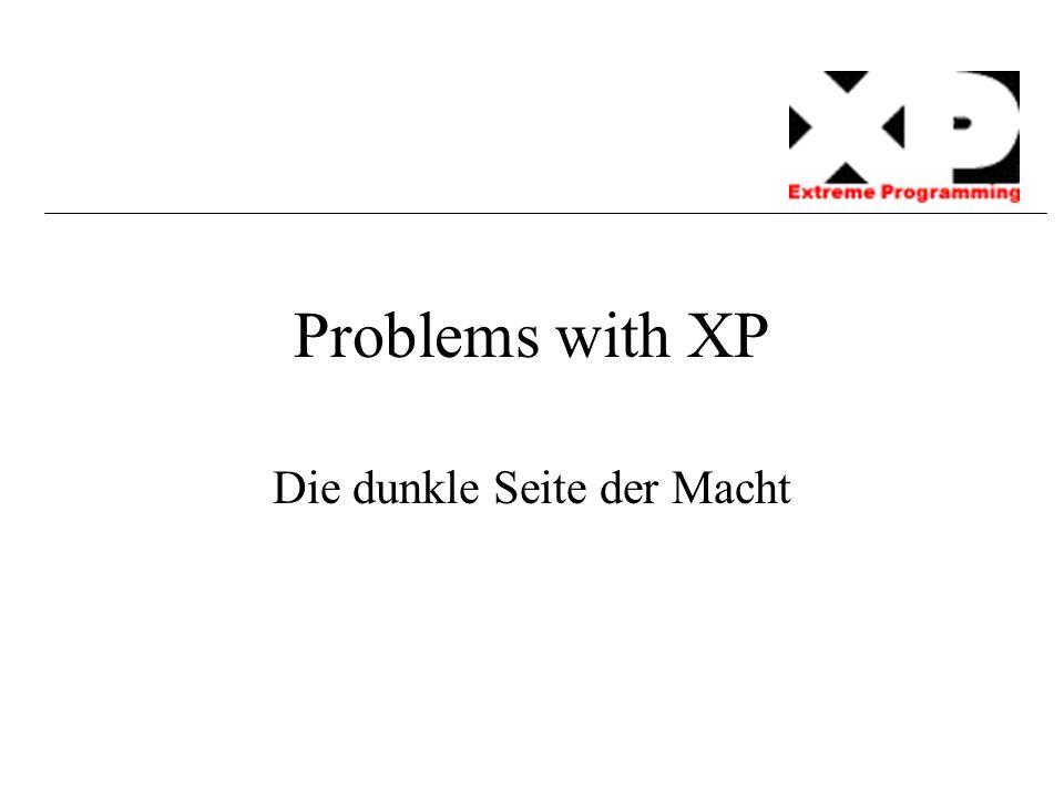 Problems with XP Die dunkle Seite der Macht
