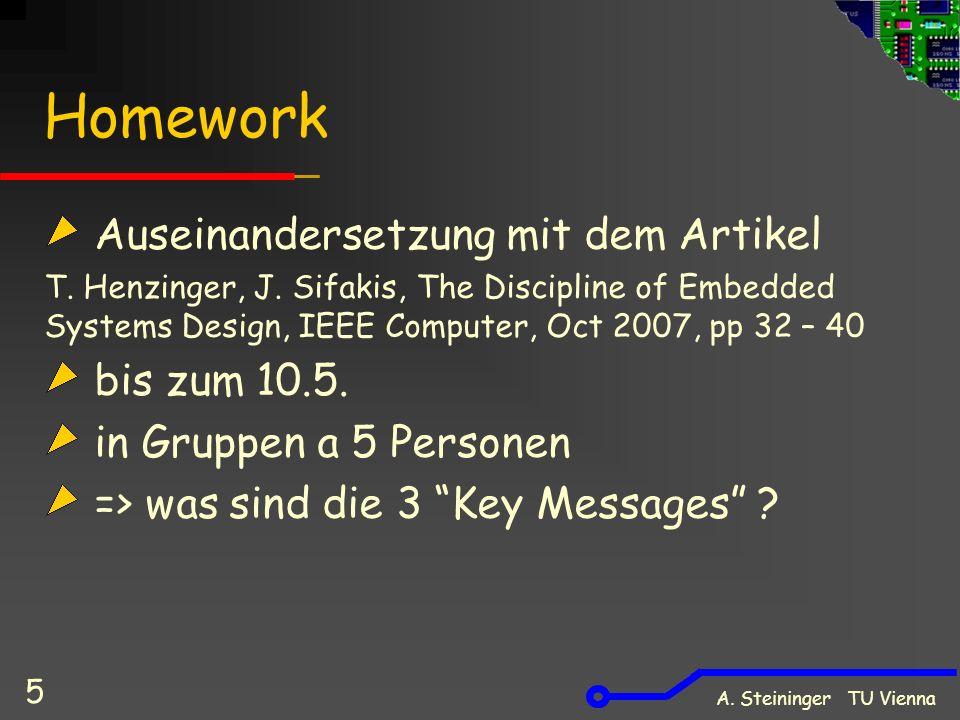 Homework Auseinandersetzung mit dem Artikel T. Henzinger, J.