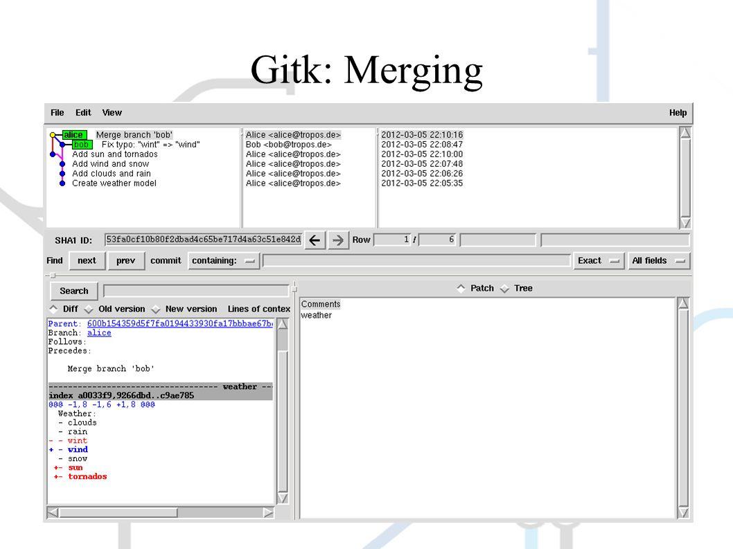 Gitk: Merging