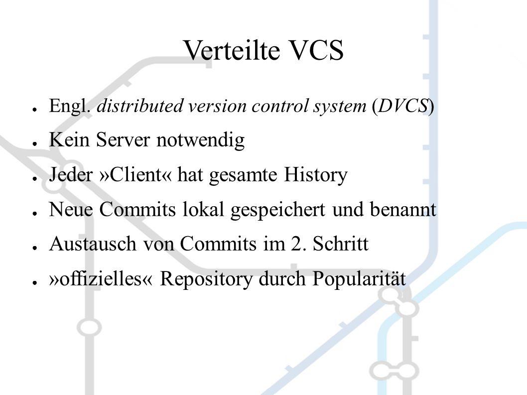 Verteilte VCS ● Engl.